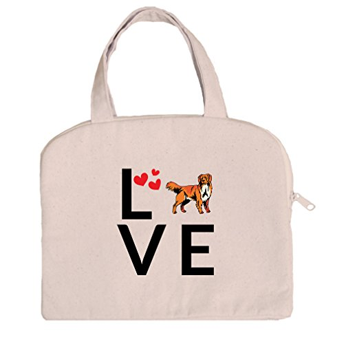 Canvas Tablet Case/Handles Love Hearts Nova Scotia Duck Tolling Retriever (Nova Heart Scotia Duck)