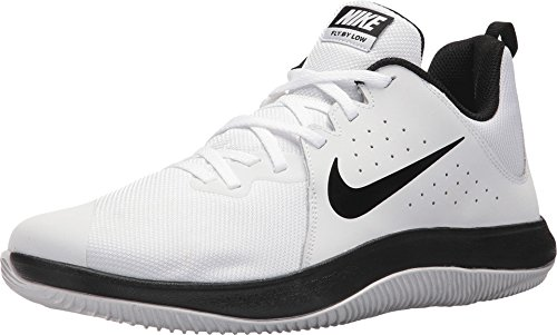 Nike Men's Fly.by Low Basketball Shoe White/Black-Pure Platinum - Shoes Go Basketball Low