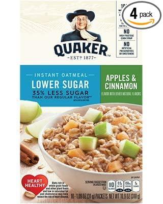 Quaker Avena instantánea, bajo en azúcar ...