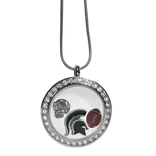State Helmet Charm (NCAA Michigan State Spartans Charm Locket Necklace, 18