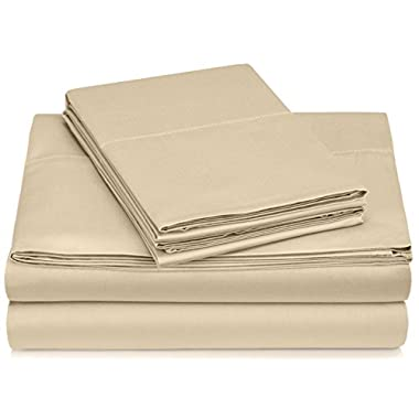 Pinzon 400-Thread-Count Hemstitch Egyptian Cotton Sheet Set - King, Taupe