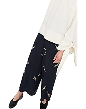 Mango Women's Flowy Printed Trousers