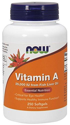 NOW Vitamin A (Fish Liver Oil),250 Softgels