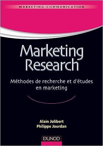 Livre Marketing Research - Méthodes de recherche et d'études en marketing pdf, epub ebook