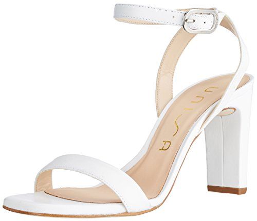 White Women's Unisa Ankle White na Strap White Saino Sandals HwwFqR8Z