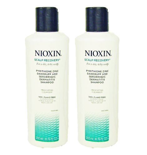 Nioxin Scalp Recovery Medicating Cleanser Dandruff Shampoo for Dry Itchy Scalp 6.76 Oz(2 Pack)