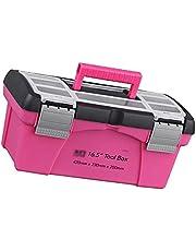 Gereedschapskisten en dozen Draagbare Tool Box Plastic Opslag Roze Inner Layer Toolbox Voor Tool Componenten Dagelijkse benodigdheden Kunstbenodigdheden Snack Drankjes 10 inch Draagbare gereedschapski