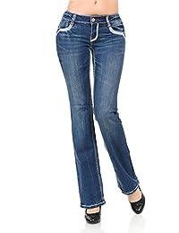 VIRGIN ONLY Women's Classic Fit Bootcut Jeans (12B Denim, Size 1)