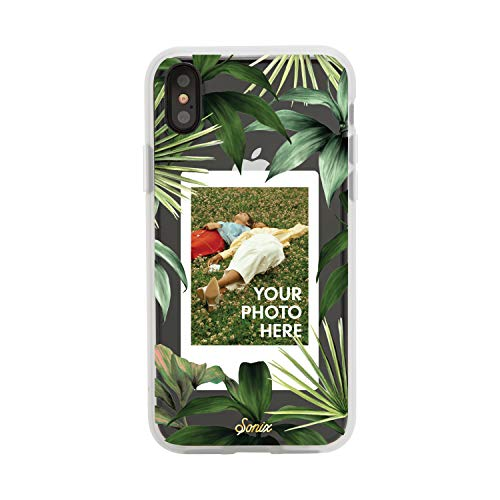 Sonix Tasmania Photo Frame Case (Palm Leaves) Cell Phone Case [Military Drop Test Certified] Protective Clear Polaroid Picture Case Series for Apple iPhone X, iPhone Xs