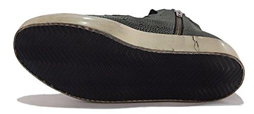Golden Goose - Zapatillas de Piel para mujer nero e grigio