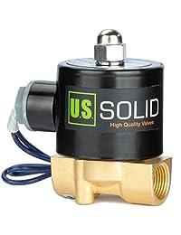 - 3/8 pulgadas, válvula solenoide, eléctrica, 12 V CC, (resistente al sobrecalentamiento, bobina rediseñada de hasta un 50 menos potencia de calentamiento), aire, gas, combustible, normalmente cerrado
