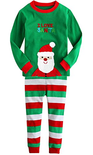 Santa Skin Suit (baby Joe Christmas Santa 2 Piece Pajamas Set, Green, (120cm) 6)