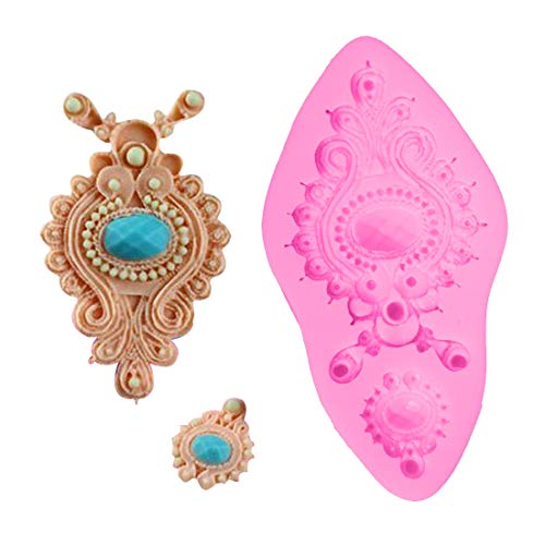 1 piece 1PC Jewelry Diamond Mould Silicone Chocolate Soap Mold Cake Stencils Kitchen Accessories Supplies Pastry DIY Tools Baking Pan