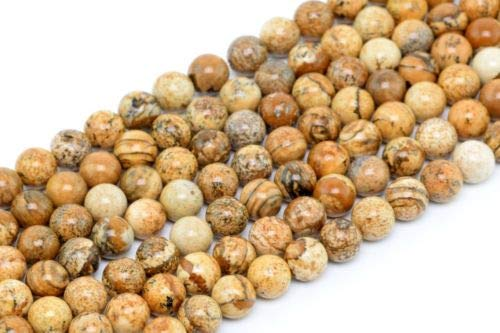 (6mm Natural Picture Jasper Gemstone Beads Grade Round Loose Beads 15.5'' Crafting Key Chain Bracelet Necklace Jewelry Accessories Pendants)