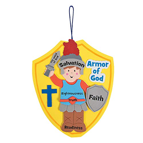 Church Halloween Activities (Fun Express Armor of God Craft Kit (kit Makes 12), Hanging Decor Craft Kits, Sign)