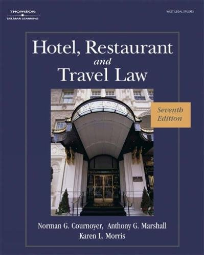 Hotel, Restaurant, and Travel Law, 7th Edition cover