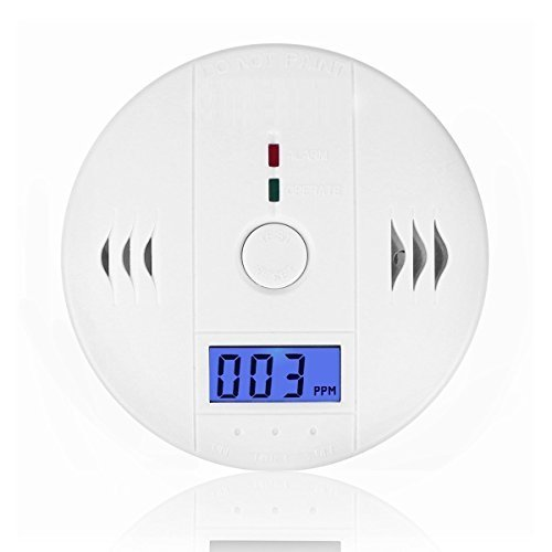 CO Detector Carbon,Wewalab Great Monoxide Alarm LCD Portable Security Gas CO Monitor,Battery Powered (Battery not included)