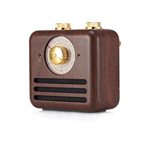 BeiMi Retro Vintage Bluetooth Speaker/Pocket Speaker with FM Headphone Jack, Wooden Radio Bluetooth Speaker Mini Personal Travel Vintage Wooden Portable Radio Retro