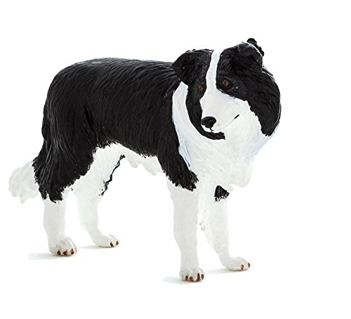 Mojo Fun 387203 Border Collie - Realistic Working Dog Toy Replica ()
