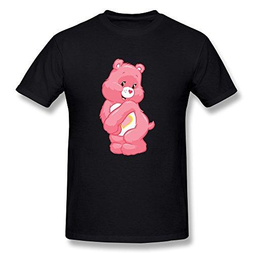 Konoyie Men's Care Bears T-Shirt - Funny Sayings Tees Black US Size (Care Bear Tummy Symbols)
