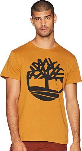 Timberland Men's Short Sleeve Seasonal Logo Tee Wheat Boot Tree XX-Large by Timberland
