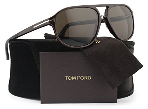 TOM FORD FT0447 Jacob Sunglasses Dark Brown w/Crystal Brown (49J) TF 447 60mm - Jacob Sunglasses Ford Tom