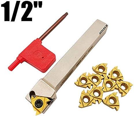 1//2 5//8 Boring Bar SNR0013M16+SER1616H16 Lathe Internal Threading Inserts Turning Tool Holder with 5pcs 16ER AG60+5pcs 16IR AG60 Carbide Turning Inserts