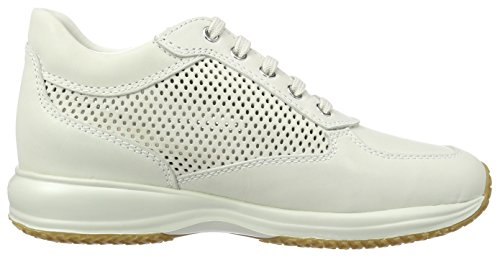 Happy Sneakers Blanc D Femme Blanc off Basses Geox A TwtAC5qtx
