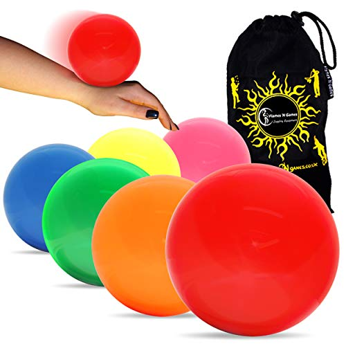 (Play 130mm Body Rolling Contact Ball - for Contact Juggling, Body Rolling Manipulation and Ball Stage Juggling. Includes Flames N Games Bag! Set Includes 1 130mm Stage Ball (Fluro Green) )