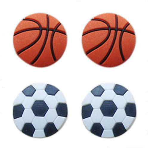 4pcs Goodxy Shoes Charms Shoe Charmers for Croc Shoes & Wristband Bands Bracelet Party Gifts Basketball Shape,Charm Jibbitz Croc##2 (Basketball Shoe Charm)