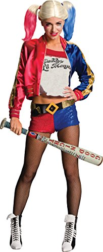 [Women's Deluxe Harley Quinn Suicide Squad Villain Costume Bundle Small 4-6] (Custom Inflatable Costumes)