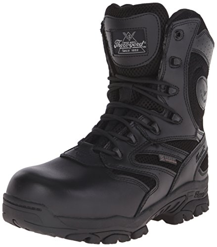 Thorogood Men's 8 Inch The Deuce Work Boot, Black, 9.5 M US