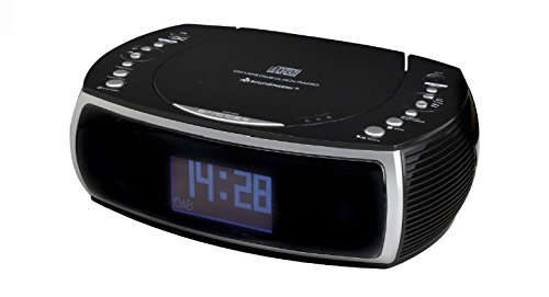 soundmaster URD470 FM / DAB Clock Radio CD Player (Black)