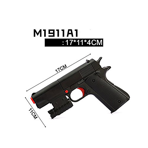 Teanfa Kid Toy Gun Realistic 1:1 Scale Colt M1911A1 Rubber Bullet Pistol Mini - Toy Gun