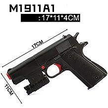 Teanfa kid Toy Gun - Brand New Realistic 1:1 Scale Colt M1911A1 Rubber Bullet Pistol Mini Pistols