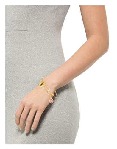 "Alex and Ani Bangle Bar Imitation Birthstone Bangle Bracelet, 7.75"""