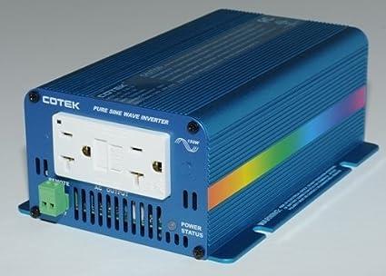 COTEK S150-112 12 VOLT 150 WATT MICROPROCESSOR CONTROLLED PURE SINE INVERTER