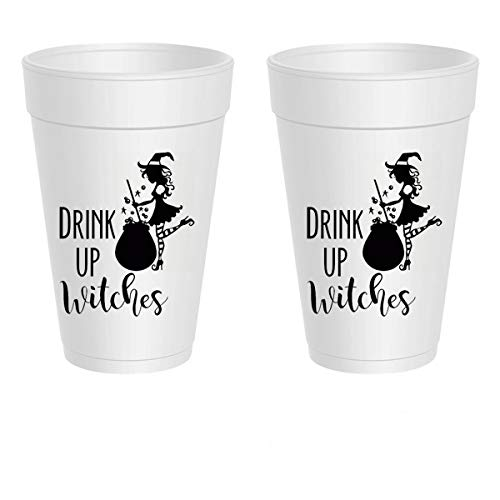 (Halloween Styrofoam Cups - Drink Up Witches)