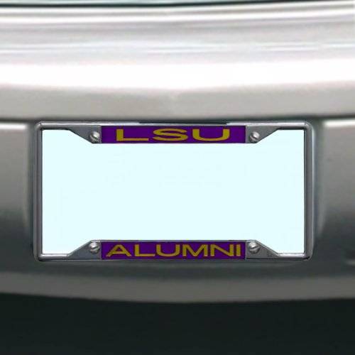 (NCAA LSU Fightin Tigers License Plate Frame Alumni)