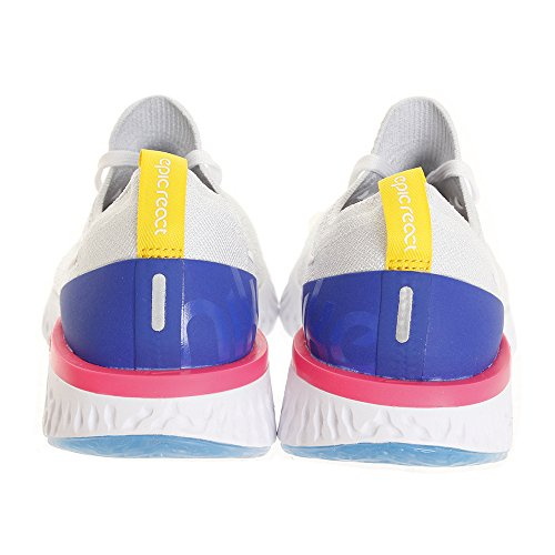 101 Flyknit Epic pink de White Running React Femme WMNS racer Multicolore Blast White Nike Compétition Chaussures Blue twaSn