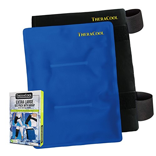Ice Packs for Injuries Reusable Premium Hot Cold Wrap | Large Microwavable Gel Compress w/Strap for Shoulder Knee Back Neck Elbow Hip Arthritis Pain Relief | Flexible Medical Grade Recovery Bag 14x11 by TheraCool