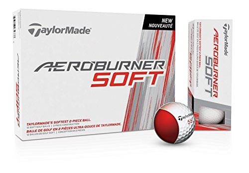 TaylorMade Aero Burner Soft Golf Ball, 12 Pack Taylormade Womens Golf Ball