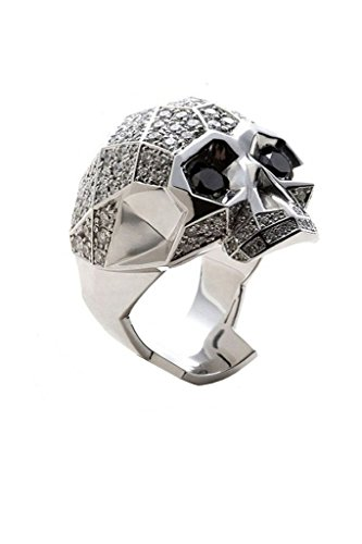 - FORZIANI Skull Ring for Men in 316L Stainless Steel with Micro Pave CZ - Gift Ring Box included - Size 11 - More Ring Sizes 7-11 Available