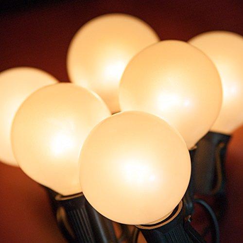 Wintergreen Lighting Black Stringer Satin G50 E17 Bulbs 24
