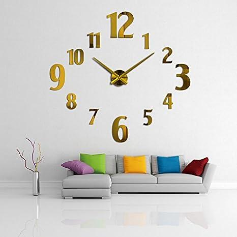 Amazon.com: Constructan(TM) hot sale wall clock diy reloj de pared modern design horloge murale large decorative clocks quartz watch living room brief: Home ...