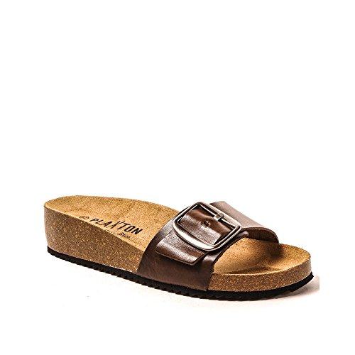 Donna Plakton Marrone Donna Plakton Sabot sandali sandali Marrone Sabot Plakton g5IPxqOn