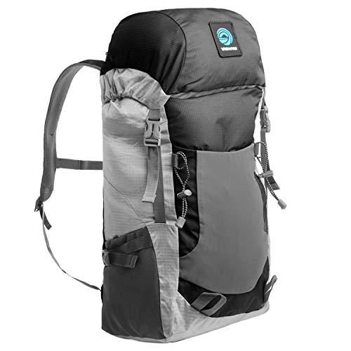 WildHorn Outfitters Highpoint Packable Backpack. 30L Daypack for Hiking and Travel. Lightweight Materials, Extremely Portable Storage Size, External Water Bottle Sleeves for Hydration. by WildHorn Outfitters