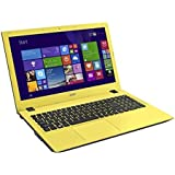 "Acer Aspire E5-573G-34W6 - Portátil de 15.6"" (Intel Core i3 4005U, 4 GB de RAM, Disco HDD de 500 GB, Intel HD Graphics 4400, Windows 10 Home), negro y amarillo -Teclado QWERTY Español"