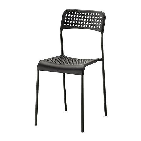 Sedie Plastica Trasparente Ikea.Ikea Adde Sedia Nero Amazon It Casa E Cucina