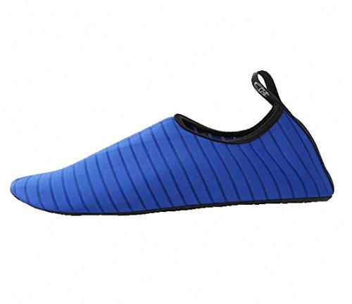 Papala Man Kvinna Barn Barfota Snabbtorkande Vatten Skor Yoga Aqua Strumpor Slip-on Sneakers Blå